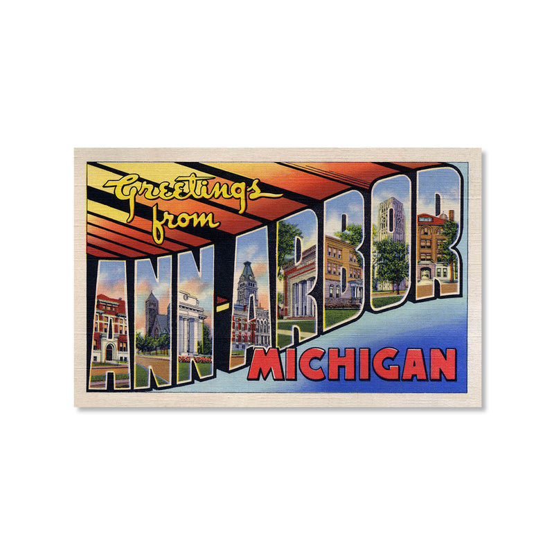 Greetings from Ann Arbor Postcard