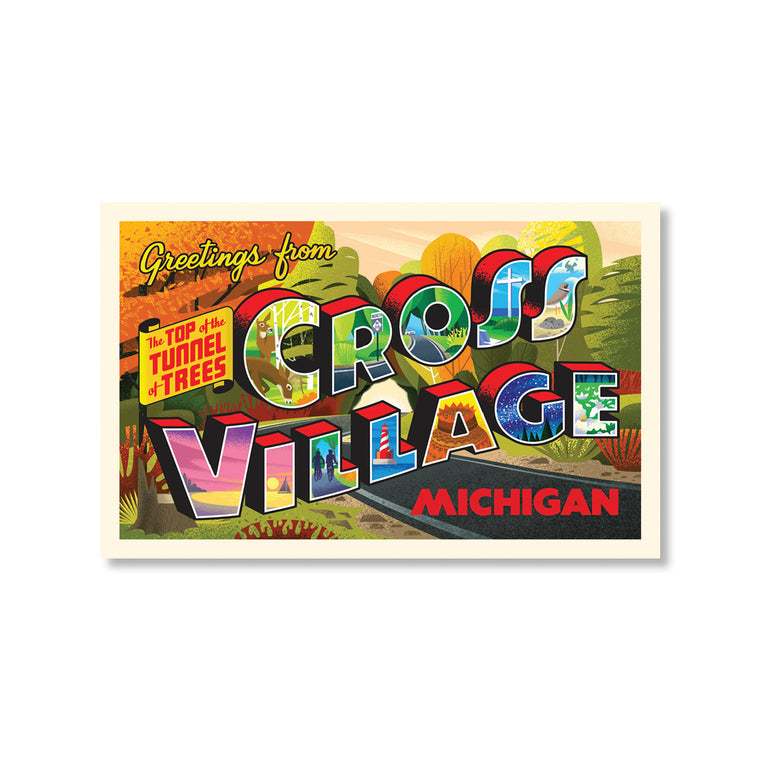 Greetings from Cross Village Postcard