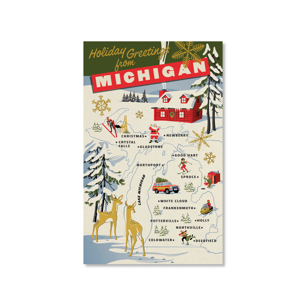 Holiday Greetings from Michigan Cards