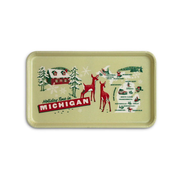Holidays Greetings from Michigan Serving Tray