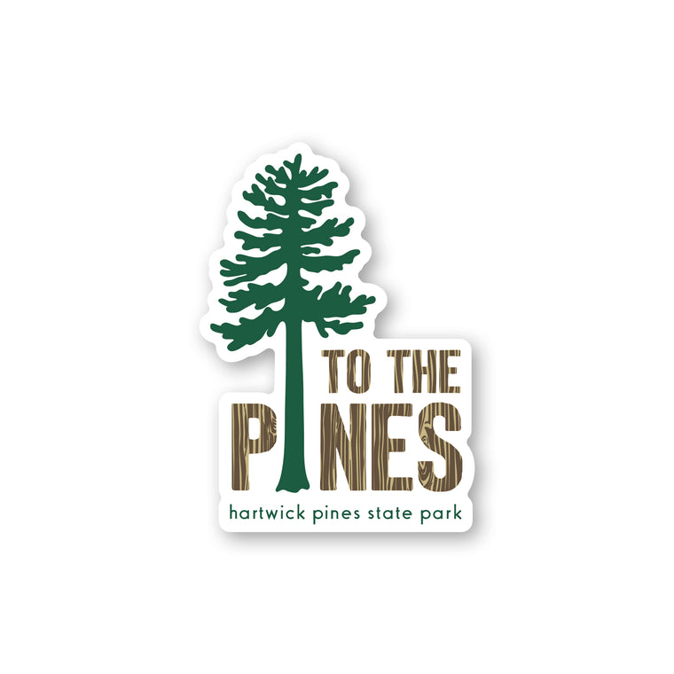 Hartwick Pines State Park Tree Sticker