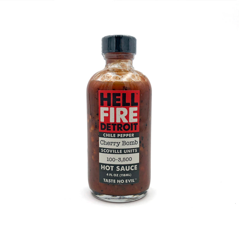 Hell Fire Detroit Cherry Bomb Hot Sauce