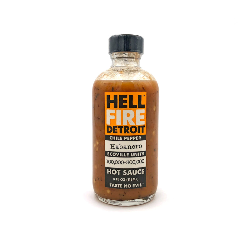 Hell Fire Detroit Habañero Hot Sauce