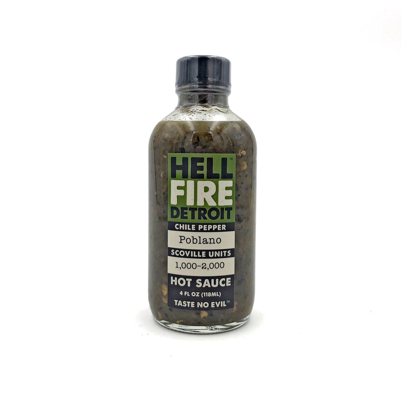 Hell Fire Detroit Poblano Hot Sauce