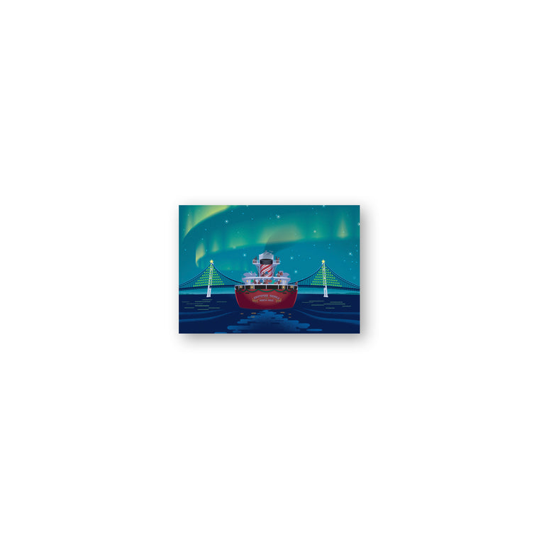 Holiday Freighter Gift Enclosure Cards