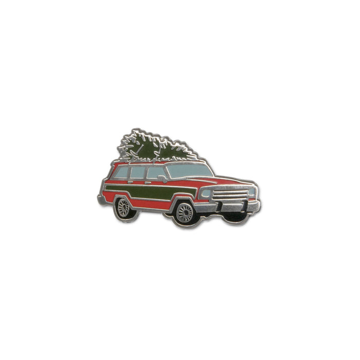 Holiday Wagoneer Enamel Pin