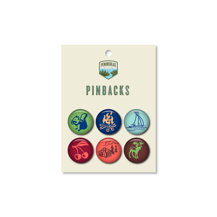 Icon Set Pinbacks (Set of 6)