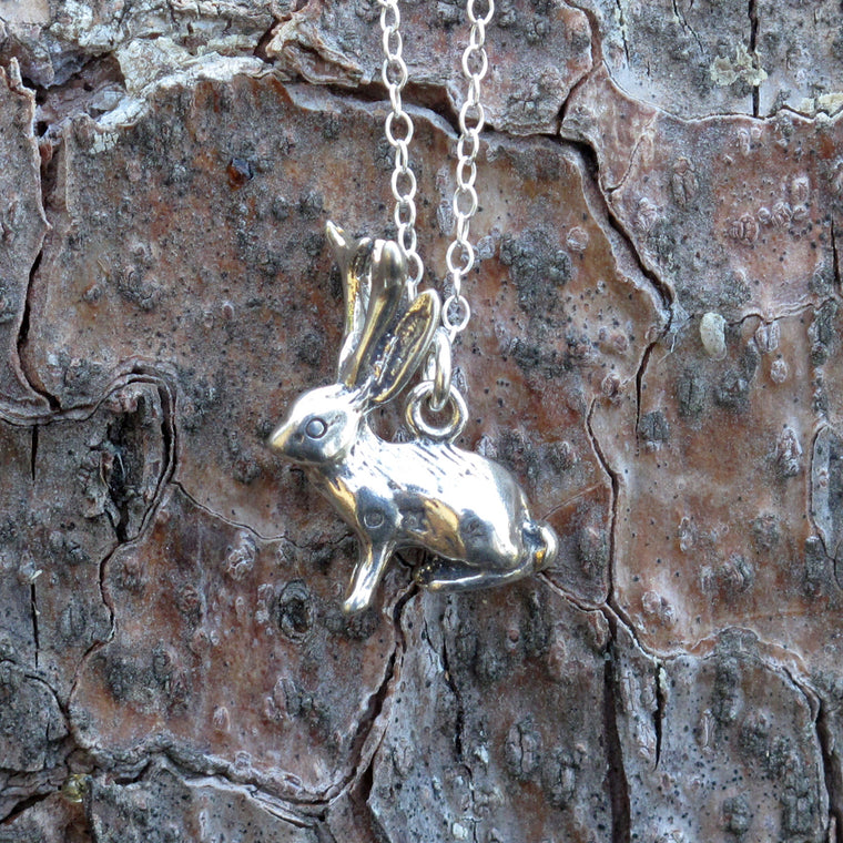 Jackalope Charm Necklace