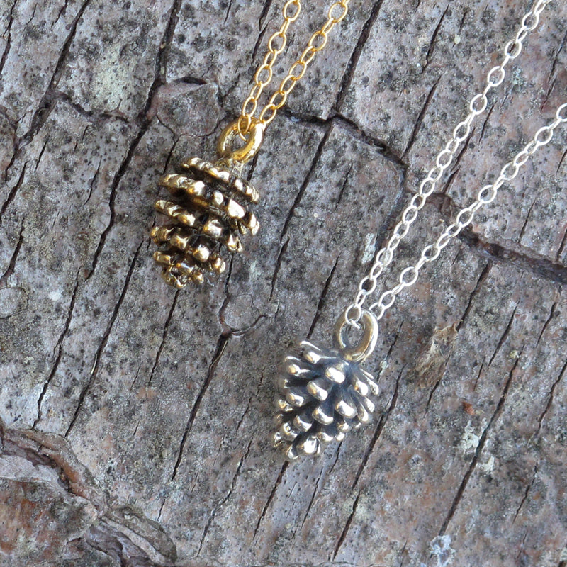 Pine Cone Charm Necklace