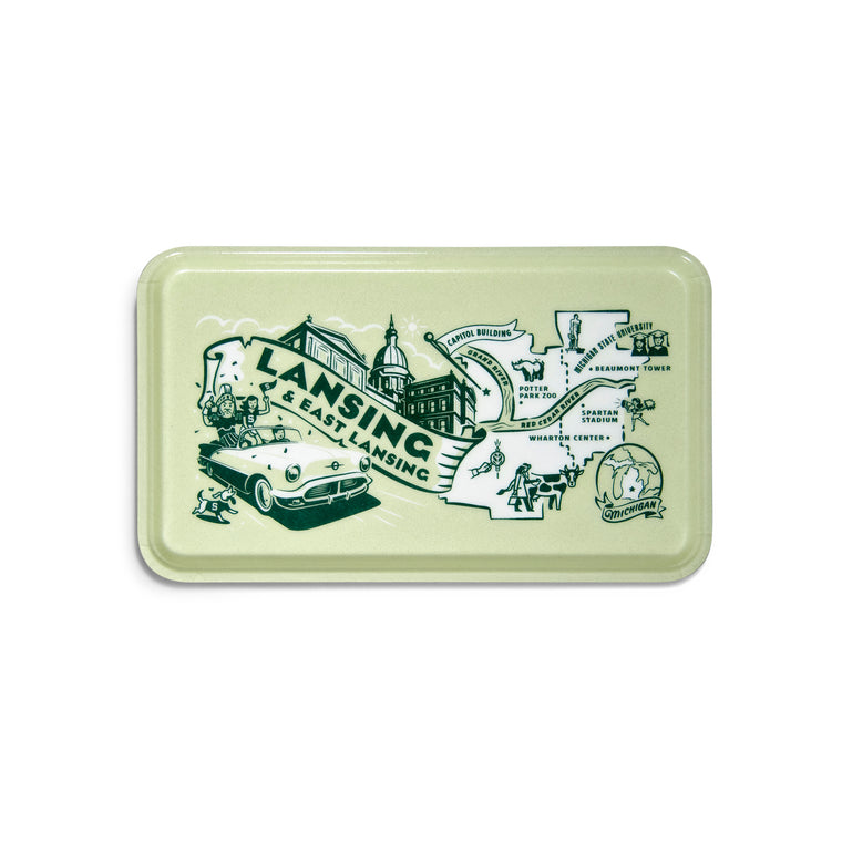 Lansing/East Lansing Serving Tray