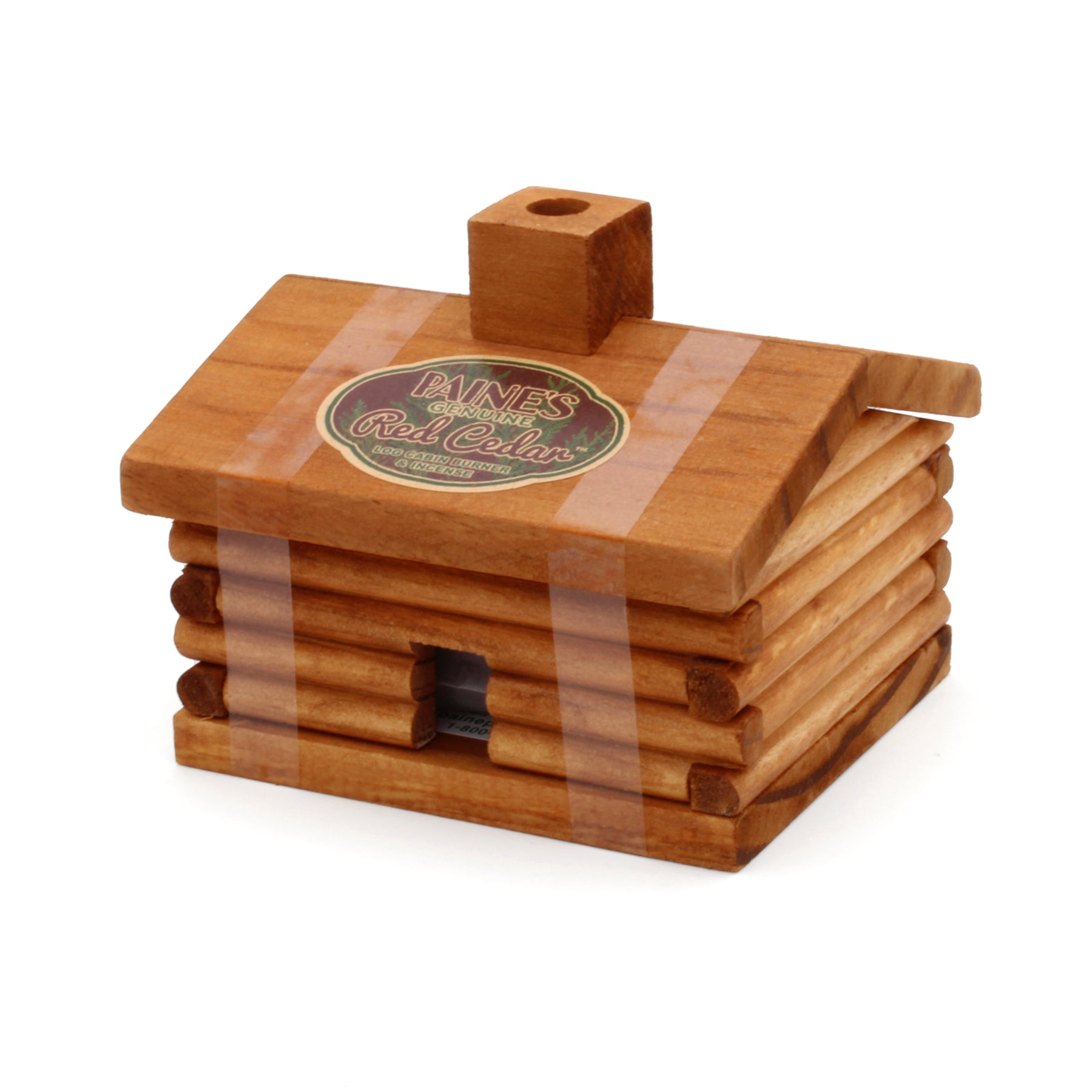 Log Cabin Burner with Red Cedar Incense