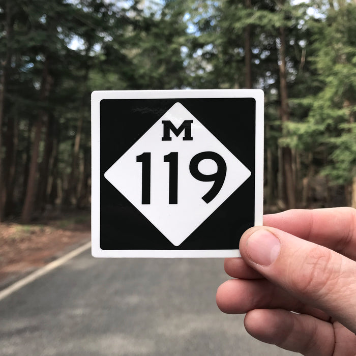 Tunnel of Trees M-119 Sign Sticker