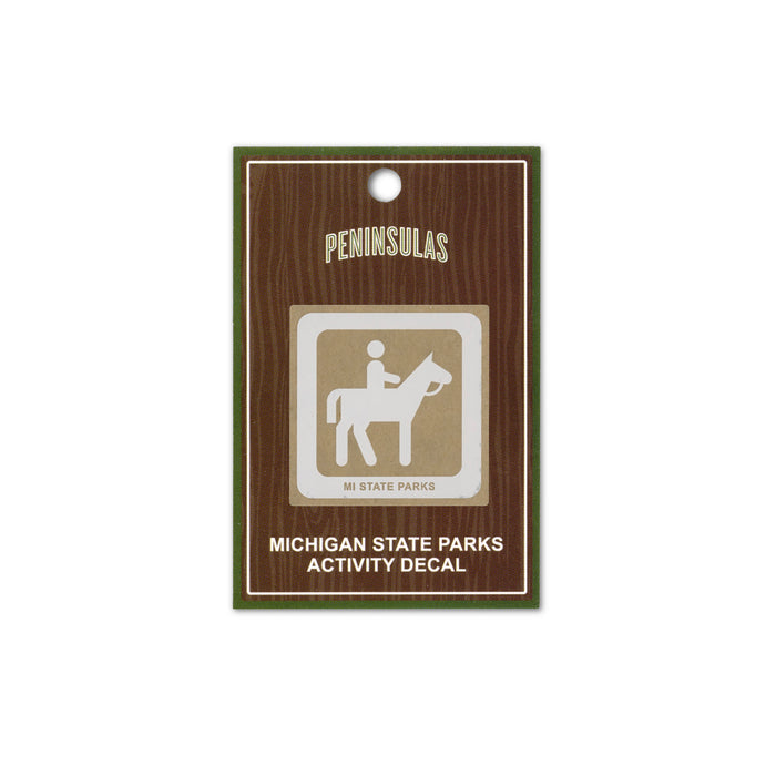 MI State Parks Activity Decal - Horseback Riding