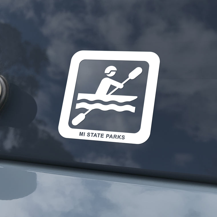 MI State Parks Activity Decal - Kayaking