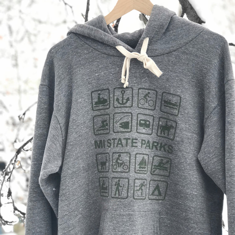 MI State Parks Pullover Hoodie - Heather Grey