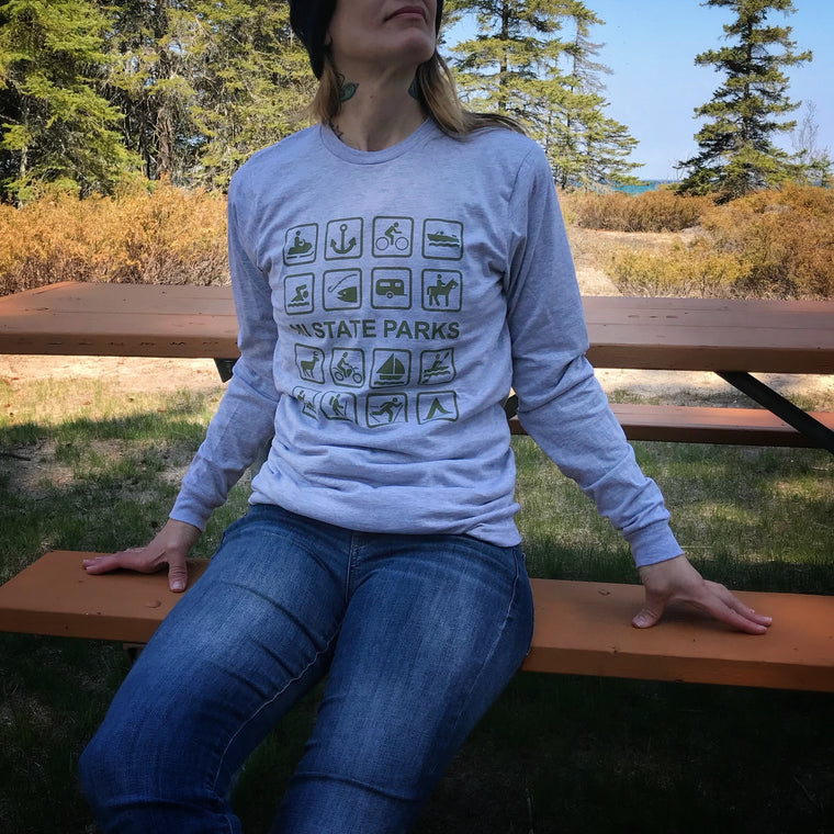 MI State Parks Long-Sleeved T-Shirt