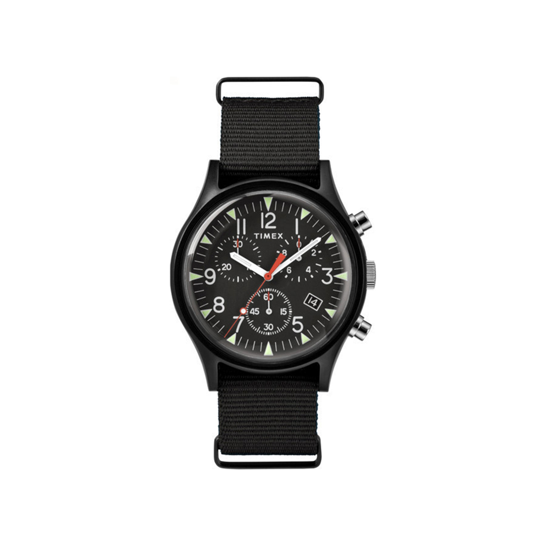 MK1 Chronograph 40mm Timex Watch - Black Nylon Strap