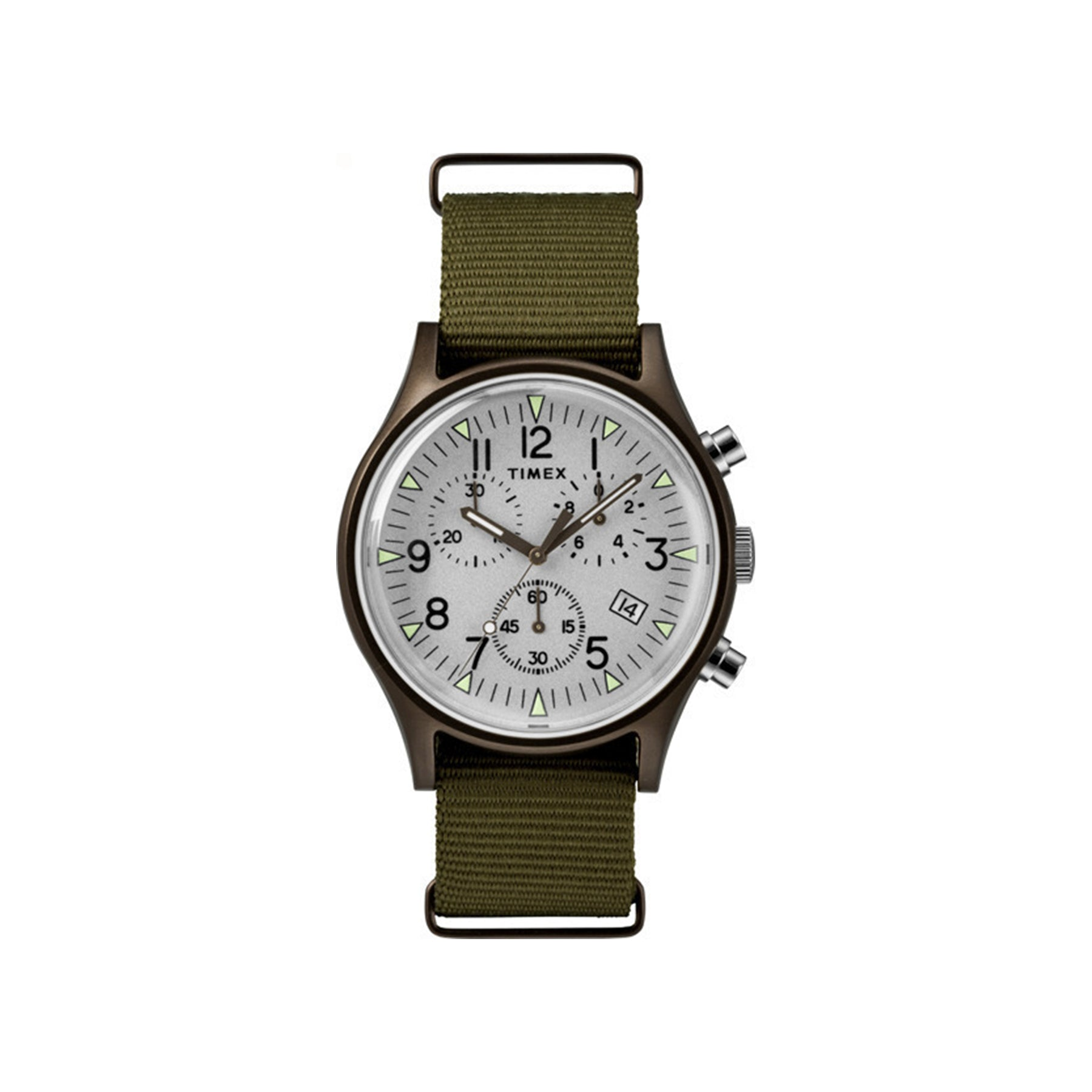 MK1 Chronograph 40mm Timex Watch - Olive Nylon Strap