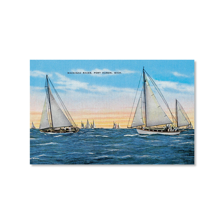 Mackinac Races, Port Huron Postcard