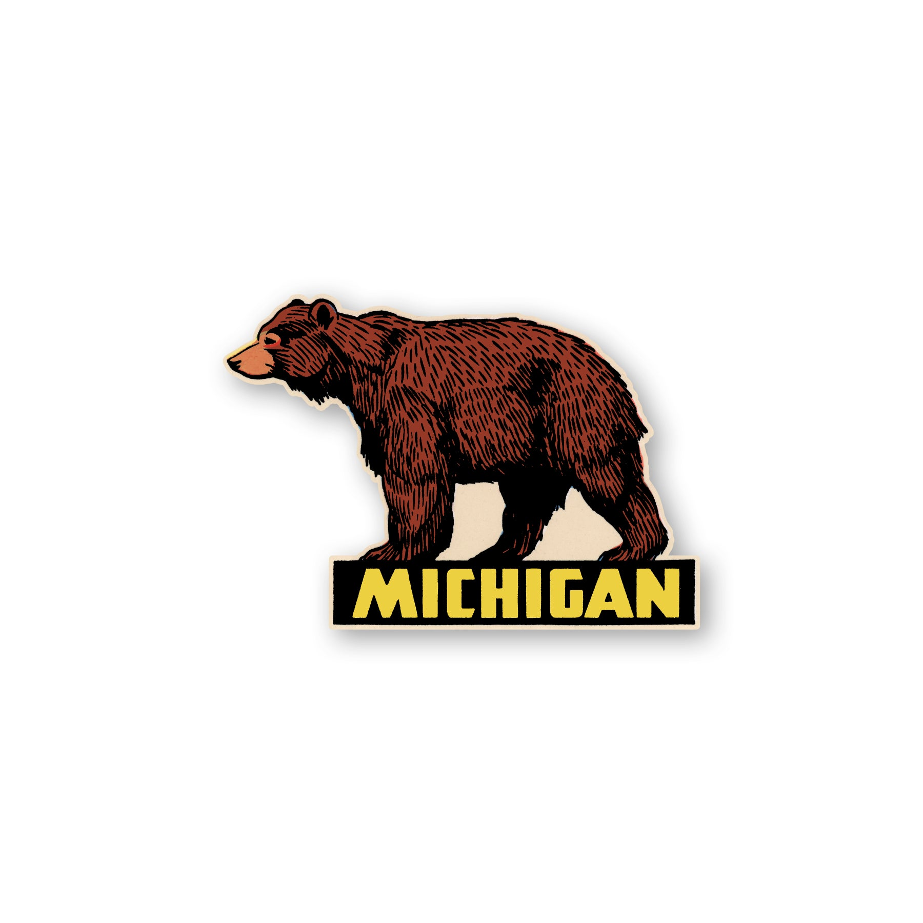 Michigan Bear Sticker