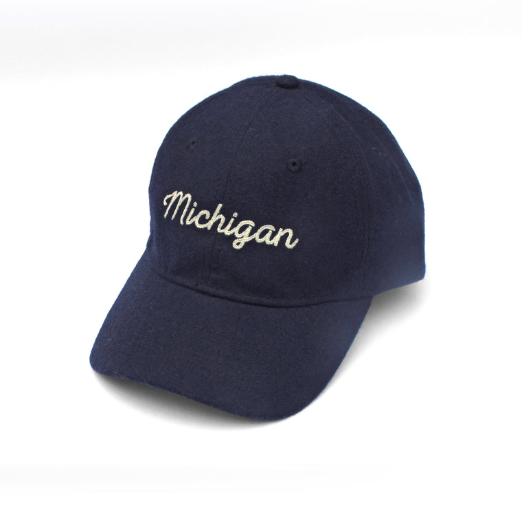 Michigan Chain-Stitched Flannel Cap