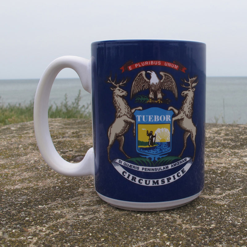 Michigan Coat of Arms Ceramic Mug