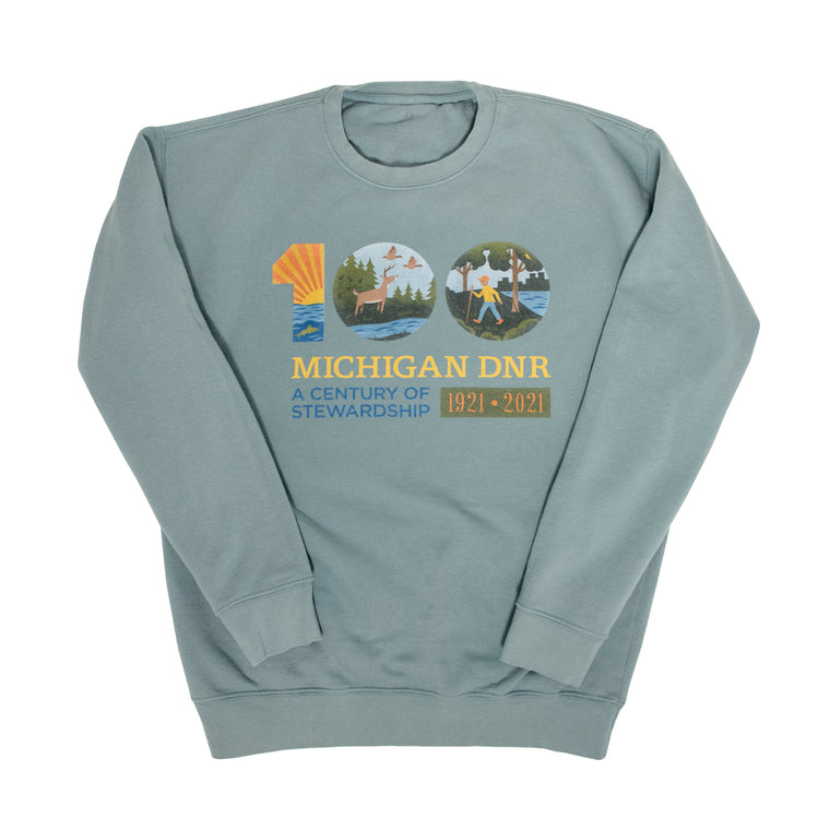 Michigan DNR Centennial Crew Neck