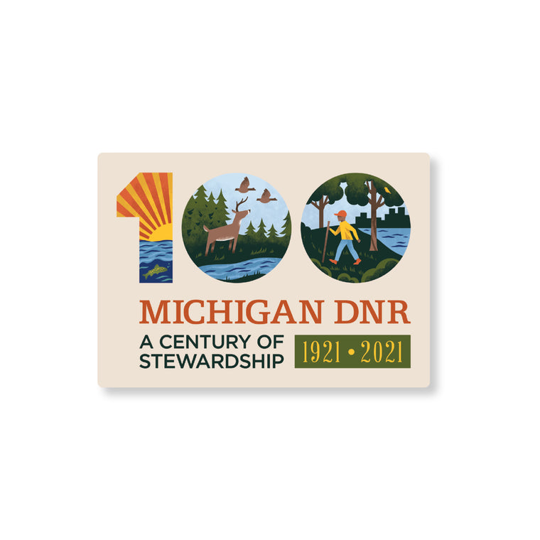 Michigan DNR Centennial Sticker