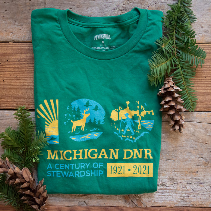 Michigan DNR Centennial T-Shirt - Evergreen