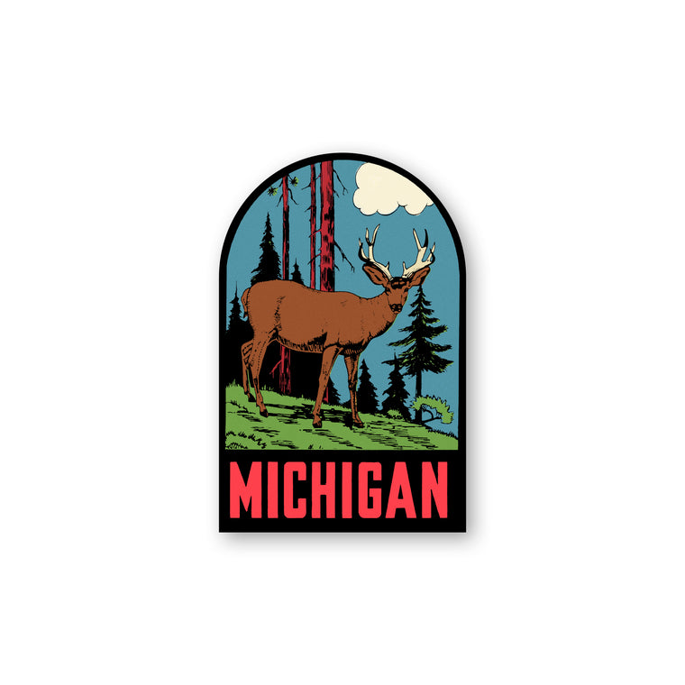 Michigan Deer Sticker