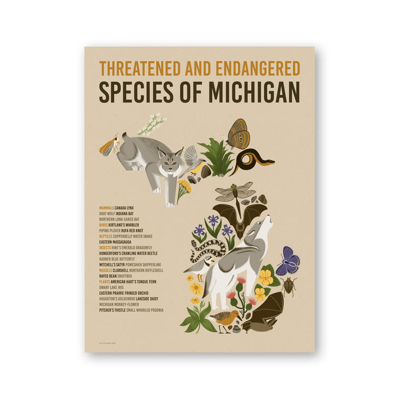 Michigan Endangered Species Print
