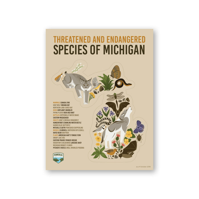 Michigan Endangered Species Sticker