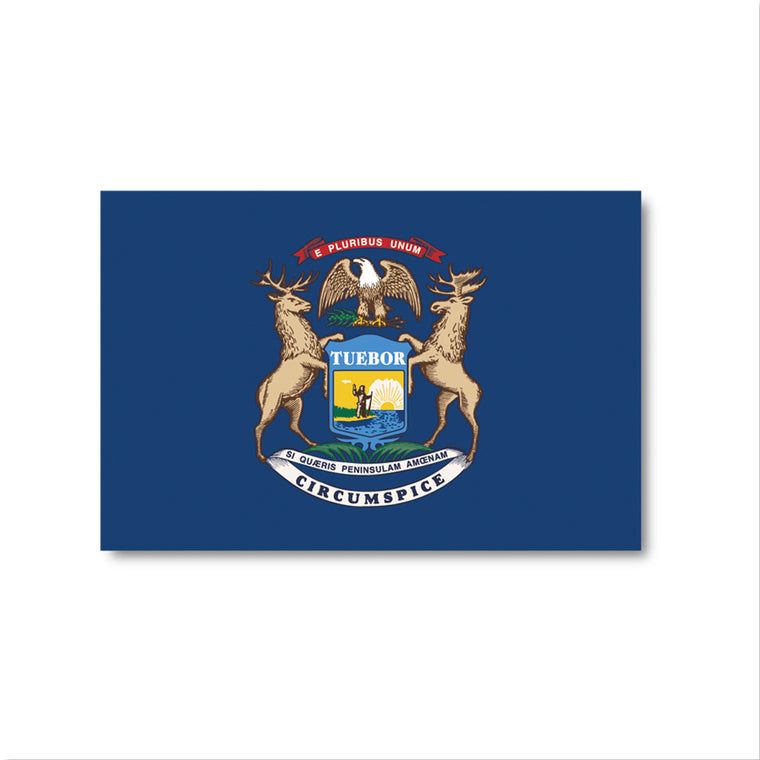 Michigan Flag Sticker