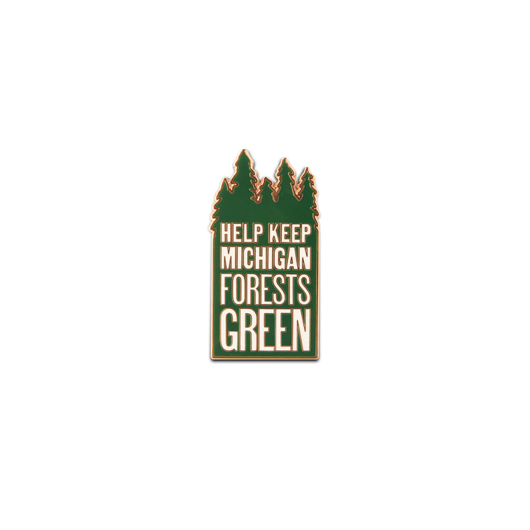 Keep Michigan Green Enamel Pin