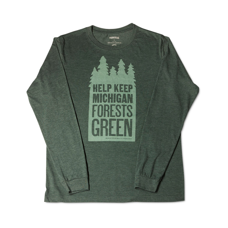 Keep Michigan Green Long-Sleeved T-Shirt