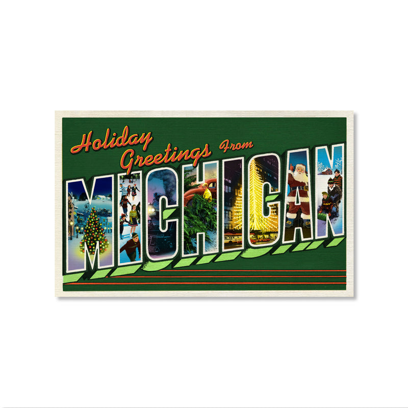 Large Letter Michigan Holiday Cards