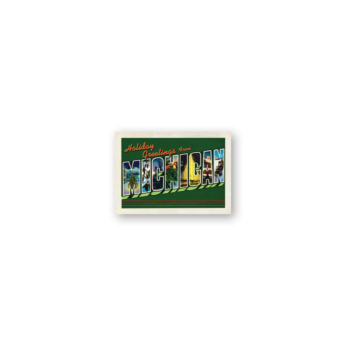 Michigan Holiday Postcard Gift Enclosure Cards