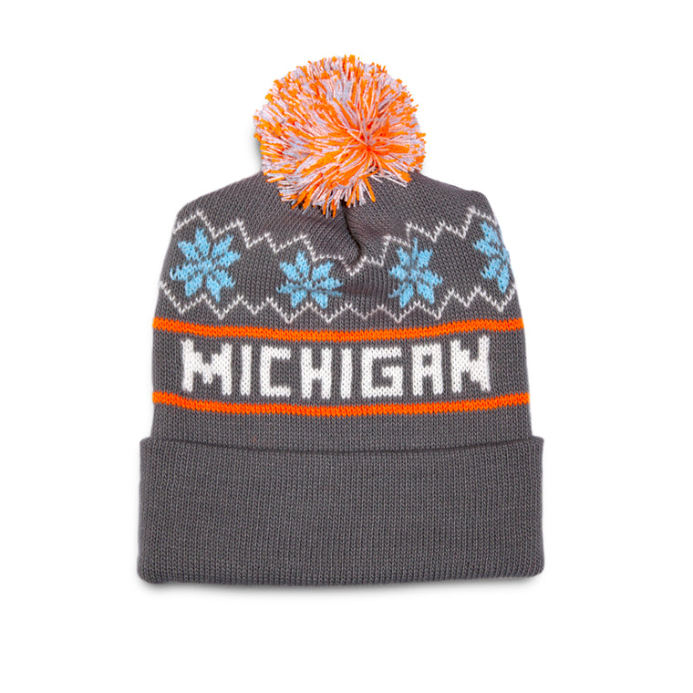 Michigan Knit Hat – Grey