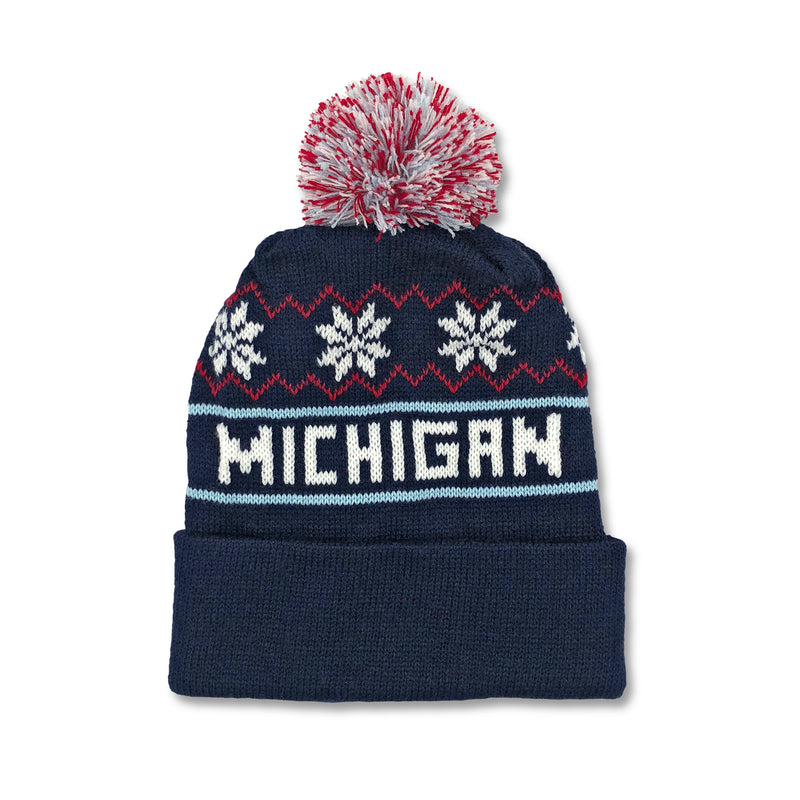 Michigan Knit Hat - Navy