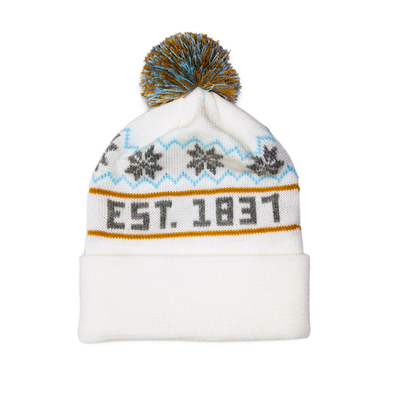 Michigan Knit Hat - White