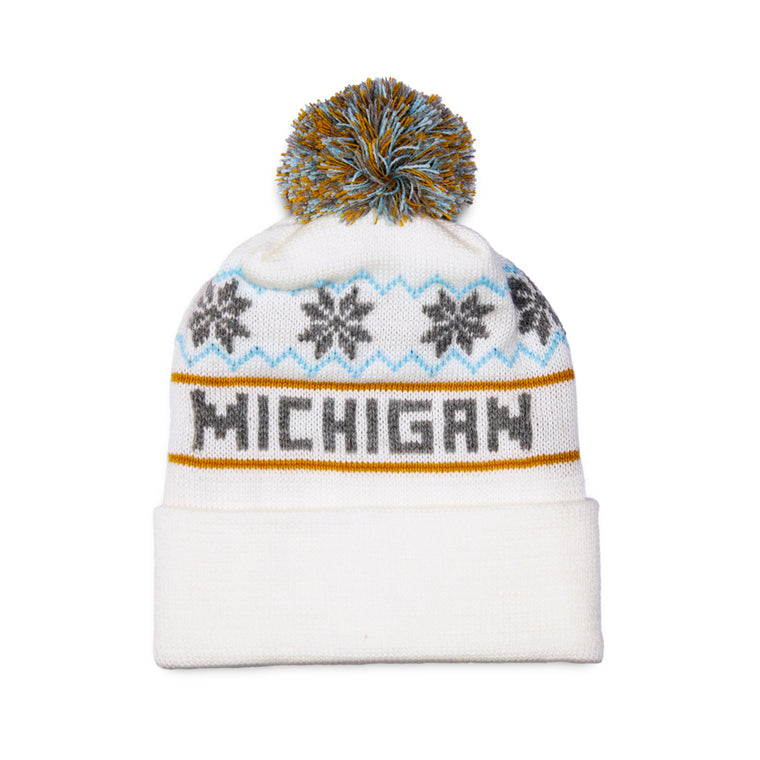 Michigan Knit Hat – White