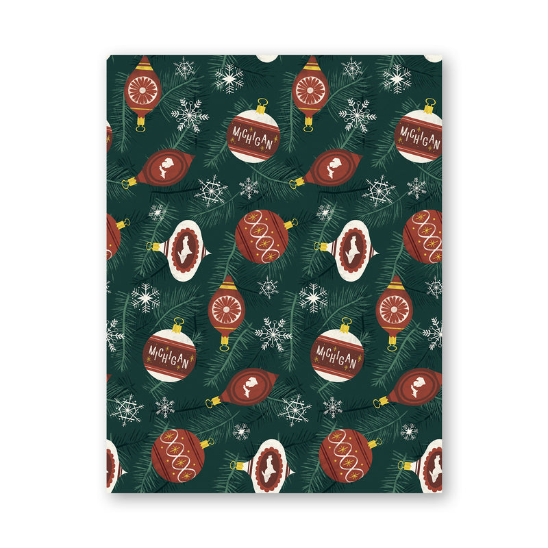 Michigan Ornament Holiday Wrapping Paper