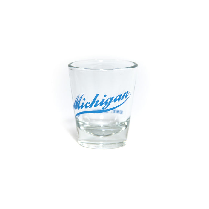 Michigan Script Shot Glass
