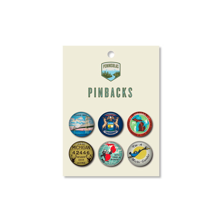 Michigan Pinback Set #1 (Set of 6)