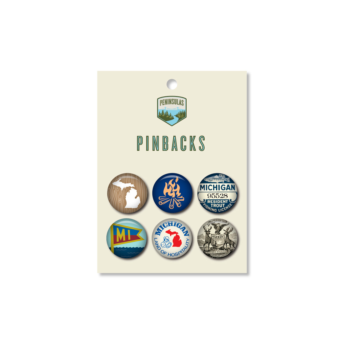 Michigan Pinback Set #3 (Set of 6)