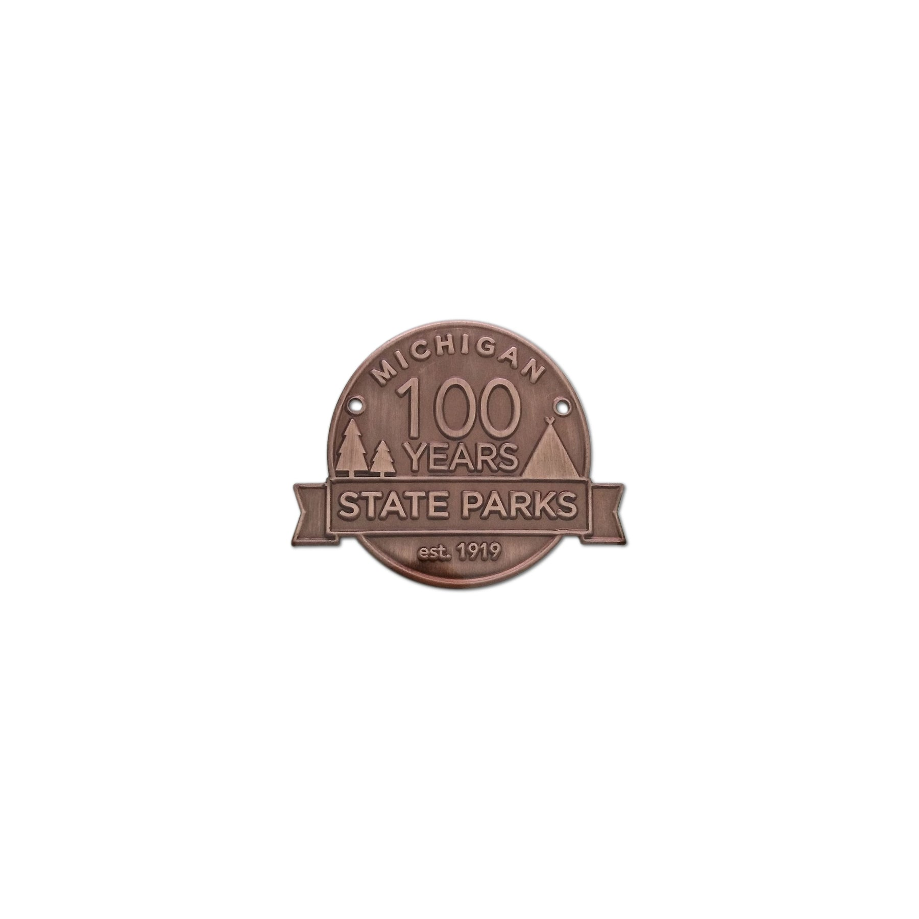 Michigan State Parks Centennial Hiking Medallion