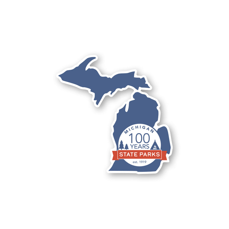 Michigan State Parks Centennial Sticker