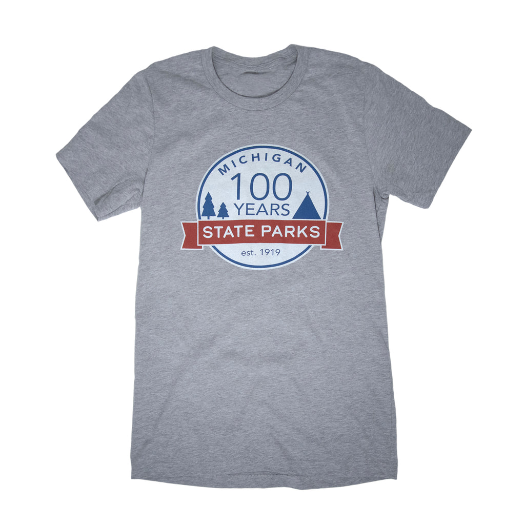 Michigan State Parks Centennial T-Shirt - Athletic Heather
