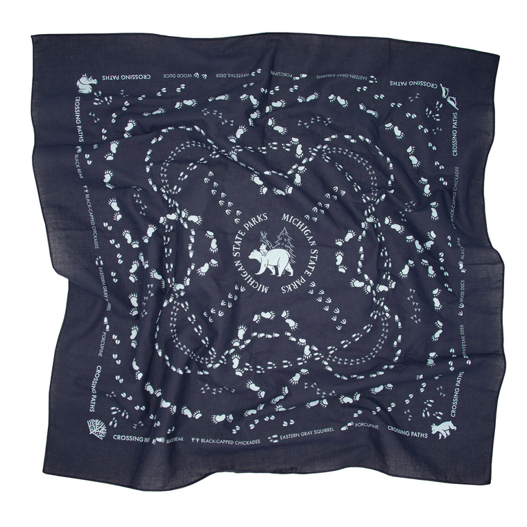 Michigan State Parks Crossing Paths Bandana