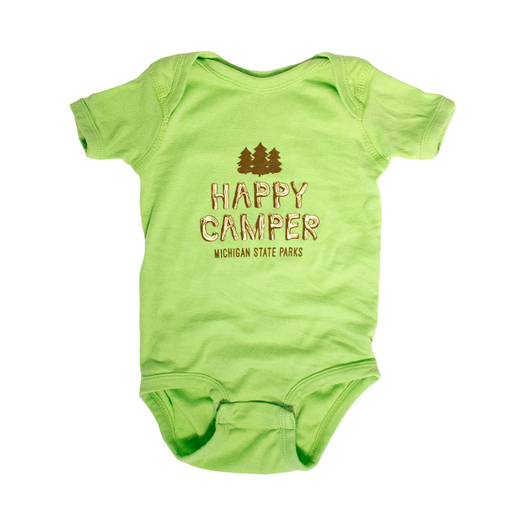 Michigan State Parks Happy Camper Infant One-Piece